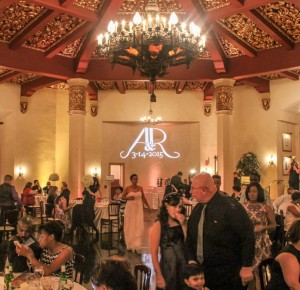 Custom Monogram @ a beautiful wedding @ El Cortez Hotel