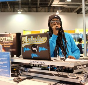 DJing & Mcing for Glide @ CES 2015.