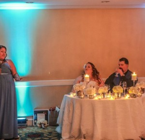 Great Wedding at Hotel Del Coronado. We provided up light & wireless microphones.