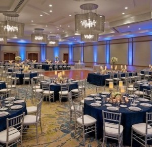 Uplighting adds a great touch to a beautiful event.